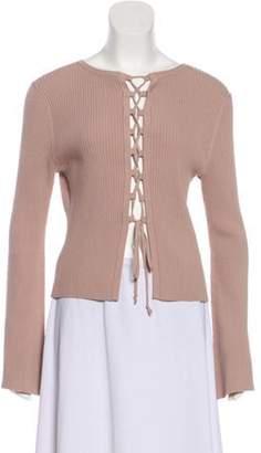 Intermix Lightweight Knit Sweater Tan Lightweight Knit Sweater