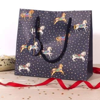 Milly Green Carousel Small Gift Bag