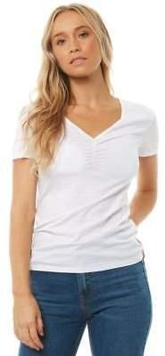 Swell New Women's Womens Short Sleeve Tee Short Sleeve Cotton White
