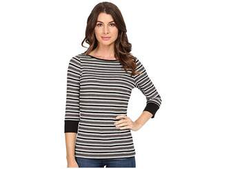 Three Dots Melinda - 3/4 Sleeve British Tee Women's T Shirt