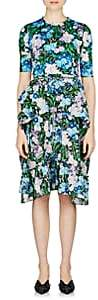 Balenciaga Women's Wildflower-Print Midi-Dress-Blue