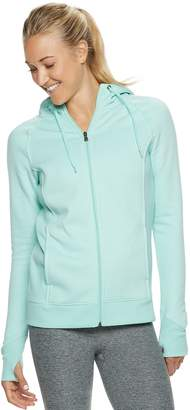 Tek Gear Women's Ultrasoft Fleece Hooded Thumb Hole Jacket