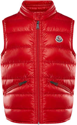 Moncler Gui Down Puffer Vest, Red, Size 8-14