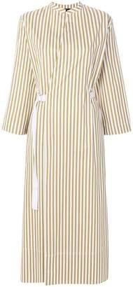 Joseph striped wrap dress