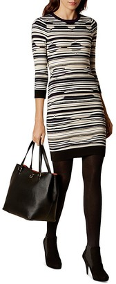 KAREN MILLEN Pointelle Knit Dress $225 thestylecure.com