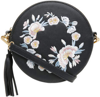 Miss Shop Round Embroidered Bag