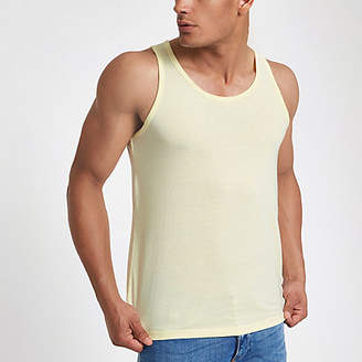 River Island Yellow scoop neck tank