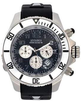 KYBOE Empire Chrono Silver Stainless Steel Chronograph Strap Watch