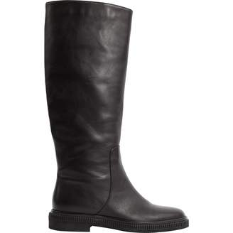 Sergio Rossi Leather riding boots