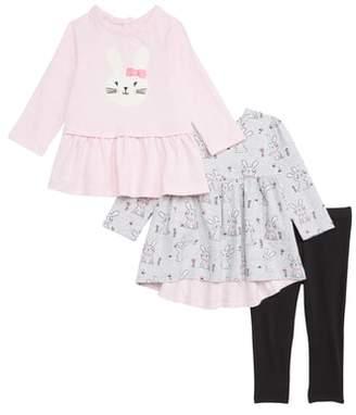 Little Me Bunny Dresses & Leggings Set