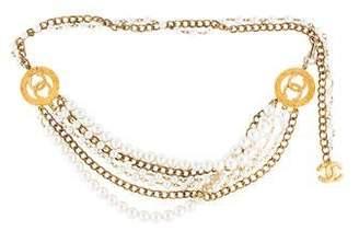 Chanel Faux Pearl CC Belt