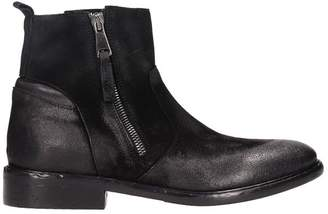 Strategia Black Suede And Leather Ankle Boots