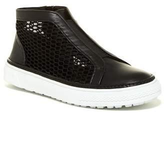 Delman McCay Zip Mesh Hi Top Sneaker