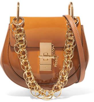 Chloé Drew Bijou Mini Glossed-leather Shoulder Bag - Brown