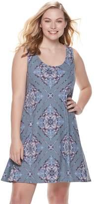 Mudd Juniors' Plus Size Cross Back Sueded Jersey Dress