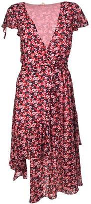 Michael Kors Michael Floral-print Wrap Midi Dress