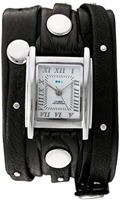 La Mer Women's Quartz Silver-Tone and Leather Watch