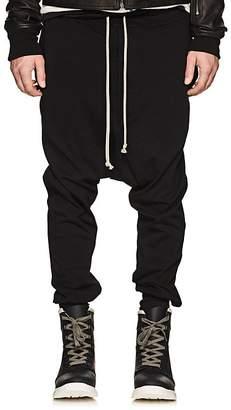 Rick Owens Men's Prisoner Cotton Drop-Rise Sweatpants
