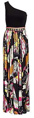 Emilio Pucci Women's One-Shoulder Printed Gown