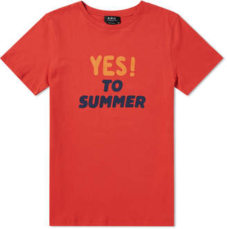 A.P.C. Yes To Summer Tee