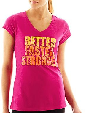 JCPenney XersionTM V-Neck Graphic Tee