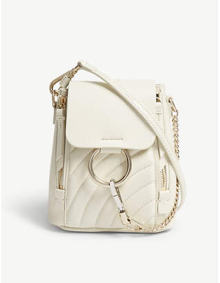 Chloé Faye quilted leather small backpack