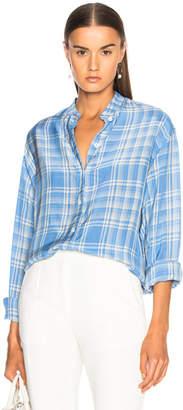 Victoria Beckham Stripe Shirting Grandad Shirt