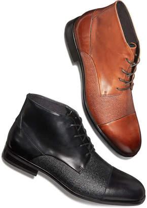 Alfani Men's Reide Textured Cap-Toe Boots, Created for Macy's Men's Shoes