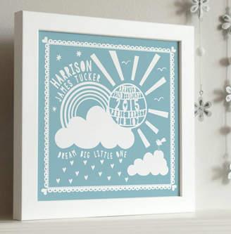 Pepper Print Shop Framed New Baby Sunshine Print