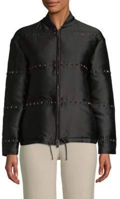 Valentino Long-Sleeve Studded Jacket