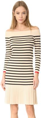 Edition10 Boat Neck Striped Dress $405 thestylecure.com