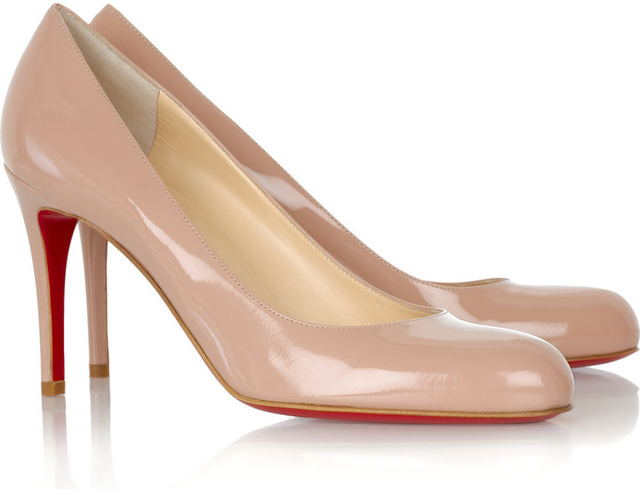 Christian Louboutin Simple patent pumps 85
