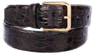 Neiman Marcus Crocodile Buckle Belt