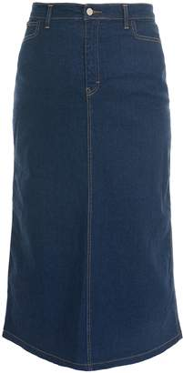 d3d6d783b65 Ice Cool Ladies Women s Indigo Stretch Denim Maxi Skirt Sizes 10 to 28 .