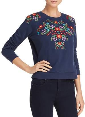 Rebecca Minkoff Jennings Floral-Embroidered Sweatshirt