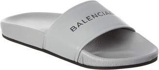 Balenciaga Signature Leather Pool Sandal