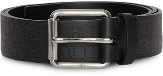 Burberry Perforated Logo Leather Belt