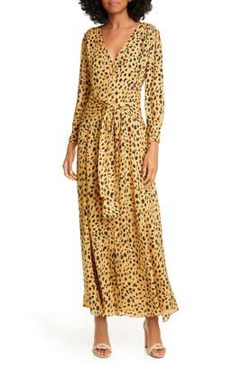 Nicholas Animal Print Long Sleeve Maxi Dress