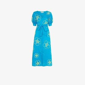 All Things Mochi Kaleo floral embroidered midi dress