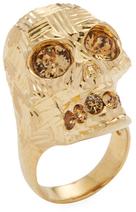 Alexander McQueenStudded Skull Ring