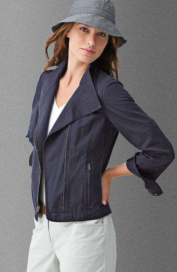 Cotton-blend motorcycle jacket