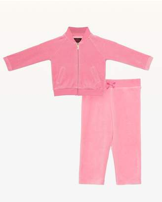 Juicy Couture Bee's Knees Velour Bomber Track Set for Baby