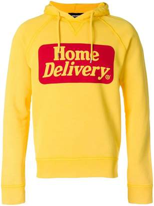 DSQUARED2 home delivery print hoodie