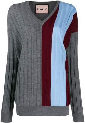 Plan C ribbed design jumper