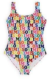 Missoni Kids' Logo-Print One-Piece Tank Swimsuit