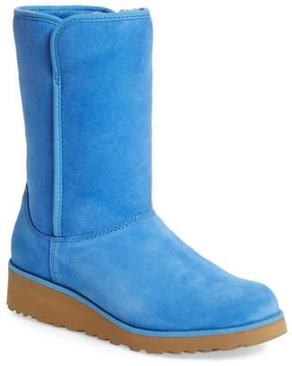 UGG Amie Slim Waterproof Genuine Shearling Lined Short Boot