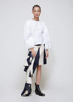 Calvin Klein Asymmetric Stripe Skirt