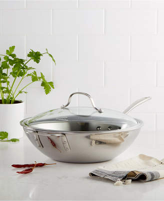 """Calphalon Tri-Ply Stainless Steel 12"""" Covered Stir Fry"""