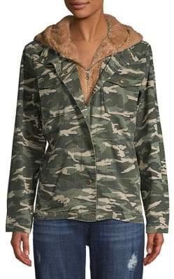 Kensie jeans Layered Faux-Fur Lined Jacket
