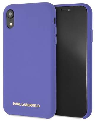 Karl Lagerfeld Violet Silicone Soft Touch iPhone XR Case